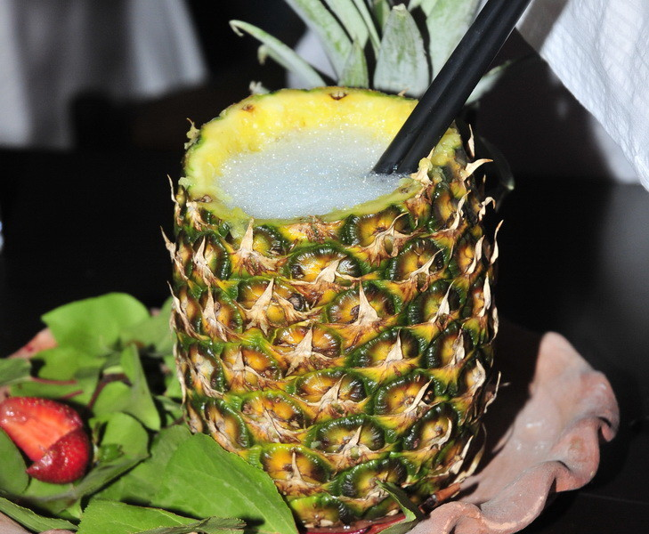 Cocktail in pineapple