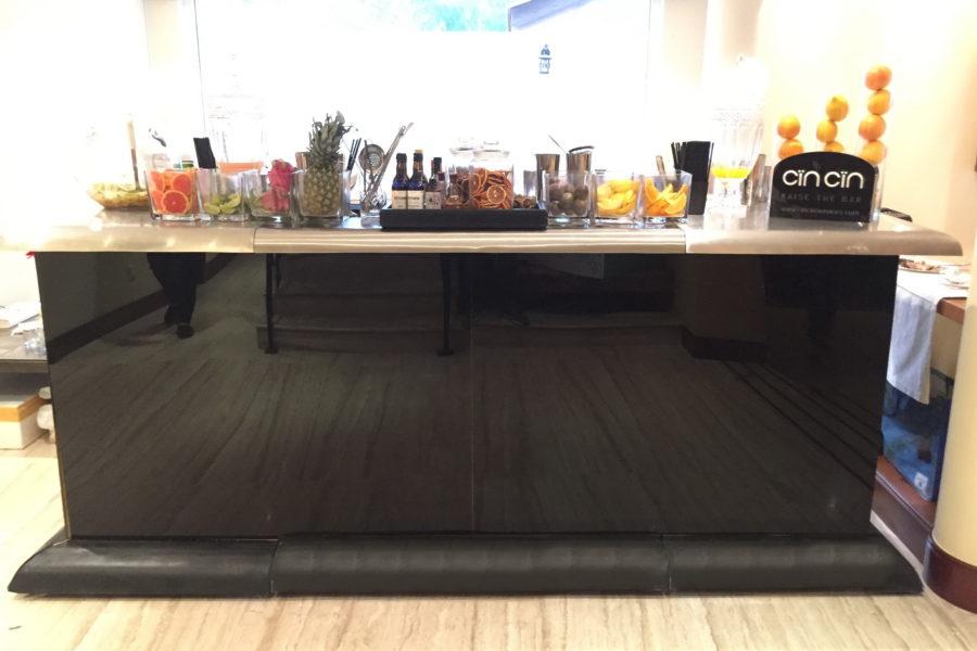Black Stainless Top bar rental