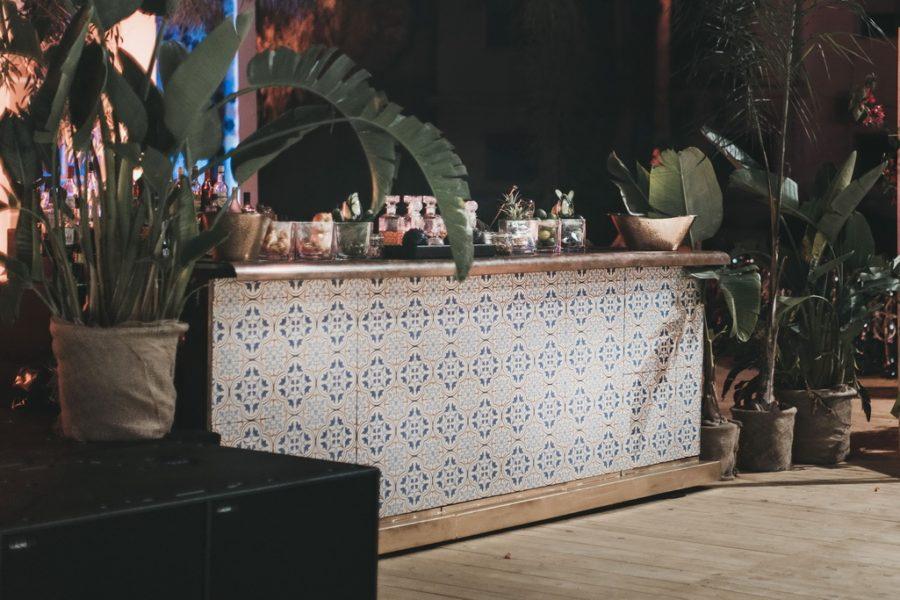Bar rental Tiles copper top